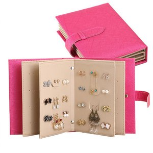 Wholesale hot sale Jewelry Organizer Portable Earring Holder Travel Jewelry Case Pu Leather Earring Holder with Book Design