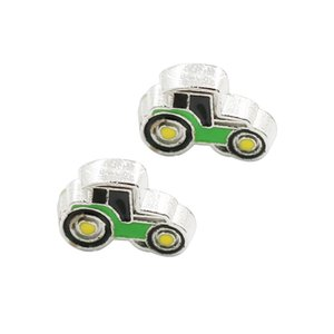 Wholesale 30pcs green old man s car good quality alloy DIY floating charms for glass living memory locket