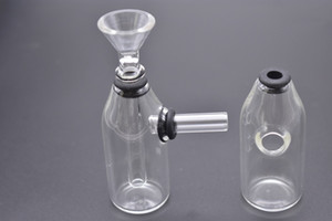 ingrosso small tobacco water pipes-Mini Bong Thick Dab Rig Gorgogliatore da pollici Oil Rig Heady Glass Dab Rigs Beaker Water Pipe Piccolo Recycler Pyrex Water Bong tabacco