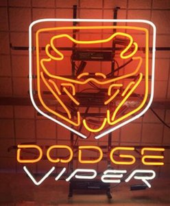 Wholesale viper cars resale online - 24 inches Dodge Viper Ram Auto Car Jeep DIY Glass Neon Sign Flex Rope Neon Light Indoor Outdoor Decoration RGB Voltage V V