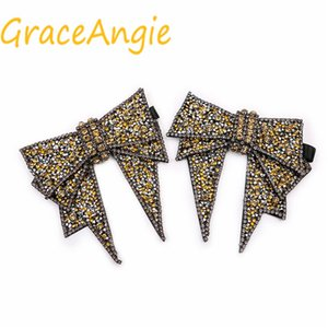 GraceAngie Shoe Flower Women's High Heels Accessories Punk Romantic Luxury Style Ornament Spider Bow Bee Model Strap Style