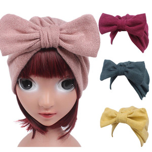 Wholesale Newest Children Baby Girls Boho Hat Beanie Scarf Turban Head Wrap Cap Dropshipping Newborn Photography Props Fotografia