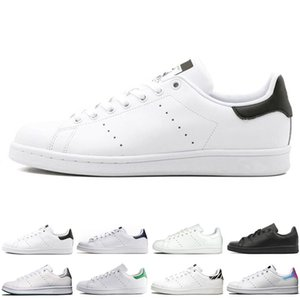 Wholesale Original smith men women casual shoes green black white blue red pink silver mens stan fashion leather shoe flats sneakers