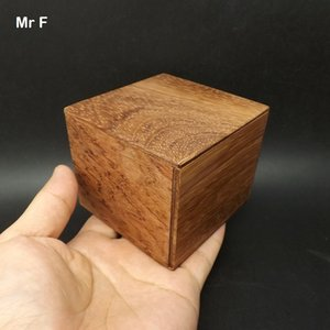 Wholesale 8 cm Guibourtia spp Wood Magic Box Puzzle Brainteaser Toy Chinese Culture Ancient Jewelry Box Without Glue Without Paint