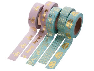 Size of 10metersx15mmx0.01mm,Hot stamping foil tape,fashion gifts packing AD use foil adhesive tape on Sale