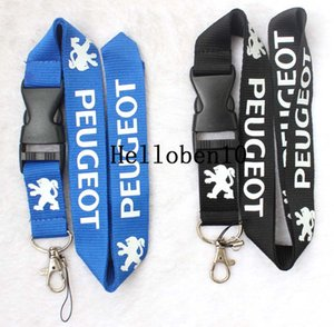 Car logo neck strap lanyard Key Ring KeyChain cell phone strap,black and blue