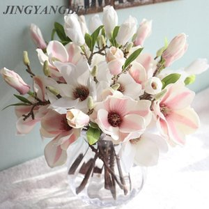 Wholesale wedding decoration silk flowers orchid Magnolia wedding artificial flowers for home decoration