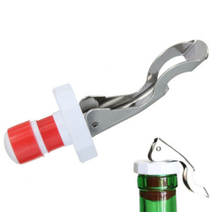 Wholesale Multifunctional Beer Red Wine Tool Stainless Steel Bottle Opener silicone Cork Wine Stopper Creative Kitchen Accessories LZ1252