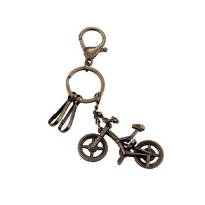 Wholesale Vintage Bronze Plated Bicycle Pendant Keychain Fashion Charm Men Women Jewelry Retro Key Chain Car Key Birthday Gift