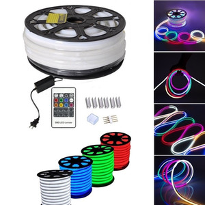 Holiday Lighting 10X20mm LED Digital Neon Flex IP65 Waterproof 110V 220V RGB Neon Decoration Light Colors Changeable on Sale