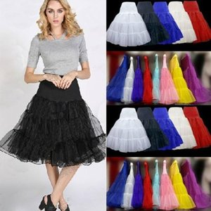 "Hot Sale Vintage Rockabilly Petticoat 25"" Length Colorful Underskirt Women's 50s A Line Gowns Petticoat for Tutu Dresses CPA423"