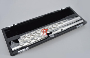 Sankyo CF201 FLUTE ETUDE In-line B Tail E Key Split Silver Plated FLute C tone 16 and 17 Holes Open French Key Flute