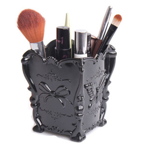 Europe Butterfly Plastic Carving Cosmetic Pen Holder Jewelry Storage Box Makeup Organizer Storage Of Brushes