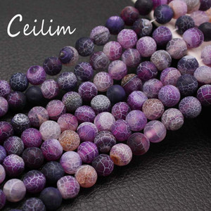 New Fashion Purple Agate Stone Loose Beads Pick Size 4.6.8.10 MM High Quality Strand Bead Natural Stone Charms Handmade DIY Stretch Bracelet