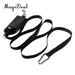 Wholesale MagiDeal Durable Nylon Dive Safety Stop Jon Line quot ft Webbing Pouch Snap Carabiner for Underwater Technical Scuba Diving