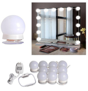 Hollywood Mirror Light Kit with Dimmable Light Bulbs for Makeup Dressing Table DIY LED Vanity Lighting Strip with Quality Adhesive 10 Lights