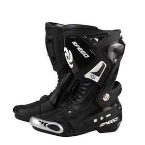 Genuine PRO-BIKER boots Speed Motorcycle botas moto Racing Road Race boots Shoes Knight Microfiber Leather Motorcycle boot on Sale
