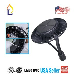 Wholesale W led Area light for replacement CE ROHS LED Area post top lighting VAC LED Circular Area Lights free shiping