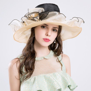Creative flower shape big hat high quality mesh veil mesh cotton hats anti-UV sunshade cap ladies caps
