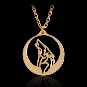 Wholesale Vintage Wolf Head Coin Pendants Necklace Game Monster Hunter Dragon Choker Necklace Alloy Pendant Necklace Women Men Jewelry