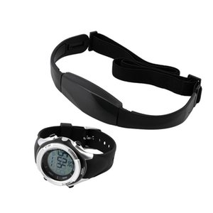 Outdoor Cycling Sport Wireless Heart Rate Monitor Fitness 1 Set Chest Transmitter Strap Digital Watch