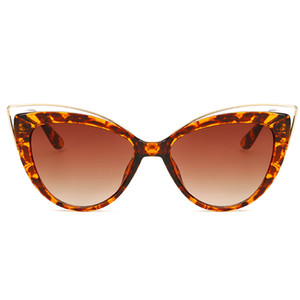 ретро солнцезащитные очки cateye  оптовых-Newest Brand Designer Mirror Sun Glasses Retro Vintage Oversized Kitty Eye Sunglasses For Women Female Cateye Eyewear Glass Lady