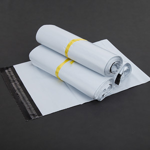 Wholesale 17x30cm White Poly Self seal Express Shipping Bags Self Adhesive Courier Mailing Plastic Bag Envelope Courier Post Postal Packing Mail Bags