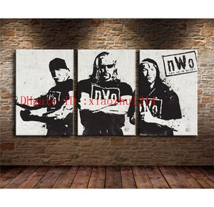 NWO Wrestling,3 Pieces Home Decor HD Printed Modern Art Painting on Canvas (Unframed Framed)