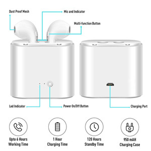 Wholesale Whole sale prices TWS i7 Dual Wireless Bluetooth Headphones Earbuds Earphones with Charger Case Bluetooth Earbuds for IOS Android Table