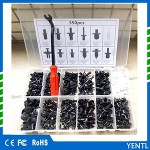 Wholesale yentl Mayitr Plastic Car Body Push Pin Rivet Fastener Trim Moulding Clip Assortment Set Plastic Box Screwdriver Tool