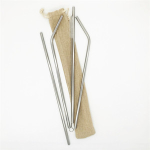 4+1 Stainless Steel Drink Straw Set 18-8 Straw 30 oz Straws Burlag Bag Packing Logo Customized