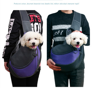 New Breathable Pet Dog Carrier Travel Tote Single Shoulders Bags Dog Net Cloth Bag 5 Colors