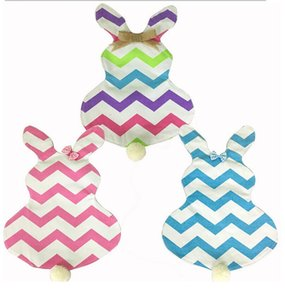 Wholesale 50pcs hot selling easter decoration chevron easter garden flag canvas inch easter garden flag with bow