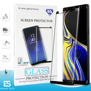 Wholesale Case Friendly NO HOLE S10 G huawei P30 Pro For Samsung Galaxy S10 S9 S8 NOTE Plus S7 S6 Tempered Glass D Curve Edge Screen Protector