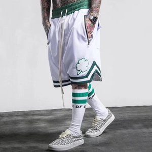 Wholesale 2018 NEW Fashion Fear of God Men s Shorts Summer FOG Justin Bieber Zipper Skate Mesh Retro Shorts S XL