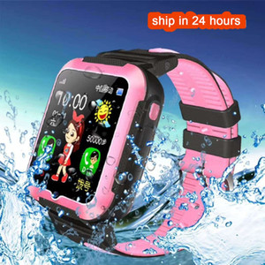 Wholesale HOT SALE E7 Children Smart Watch AGPS LBS Location Waterproof Kids Baby SmartWatch Touch Screen Baby Wristwatch for iOS Android