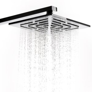 Wholesale 12 Inch CM Stainless Steel Square Rain Shower Head Holes Water Out Rainfall Showerheads Not Including Shower Arm