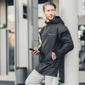 Autumn Winter Jacket Coat Mens Sport Running Gym Down Jacket Hooded Sweatshirt Men Fitness Bodybuilding Long Sleeve Male