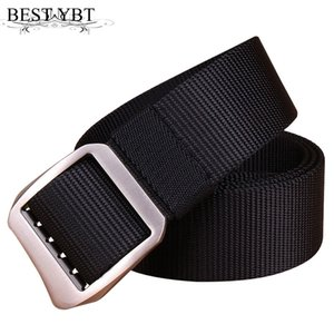 Wholesale Best YBT Men Nylon belt Alloy ring buckle casual cowboy Men belt Hypoallergenic electrodeless adjustment