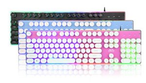 Wholesale 7 colour backlit game mechanical touch keyboard Punk retro luminous lol chicken keyboard marvelous gorgeous splendid and posh