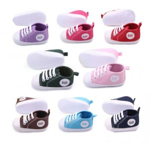 Wholesale 13 Colors infant baby kids boy girl sneakers soft sole non slip crib canvas shoes