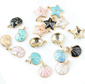 Wholesale Charm for Jewelry Colorful Nautical Ocean starfish Shell Conch Sea Charms DIY Bracelet Necklace hair Jewelry Accessory DIY Craft