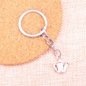 Wholesale Fashion mm Key Ring Metal Key Chain Keychain Jewelry Antique Silver Plated watering can gardening mm Pendant