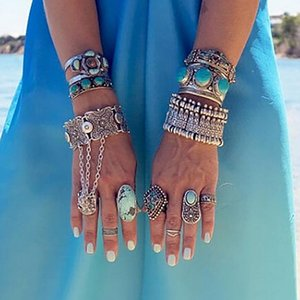Wholesale Gypsy Statement Boho Coachella Festival Turkish Jewelry Tribal Ethnic Jewelry Bohemian Antalya Coin Bracelet