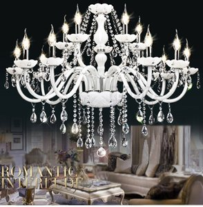 Wholesale lighting halogen for sale - Group buy Modern White Crystal Chandelier Lights Lamp Chandeliers For bedroom Living room Fixture Crystal Light Lustres de crista lighting