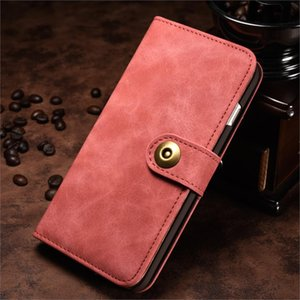Wholesale Dropshipping For iPhoneX Luxury Pink Retro Business Leather Wallet Case in Magnet Back Cover For iPhone X Phone magnetic Cases Bag