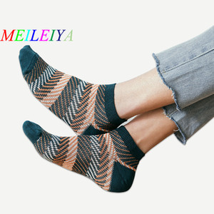 MEILEIYA 20 Pairs Bag New Hot Men's Socks European style Stitching pattern Tide Men Leisure Boat Socks Peas Shoes 5 Color