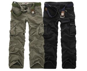 Wholesale Casual Training Plus Size Cotton Breathable Multi Pocket Military Army Camouflage Cargo Pants Outdoor Fashion Men'sTrousers WITHOUT Belt