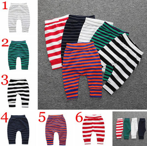 INS Children Spring autumn striped cartoon cotton pp pants haren pant leggings pants 6colors choose Multicolor Baby Bread Pants