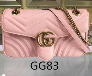 Wholesale Fashion Marmont Bags Women Handbag Bag Shoulder Bags Lady Small Golder Chains Totes Handbags Bags nude pink